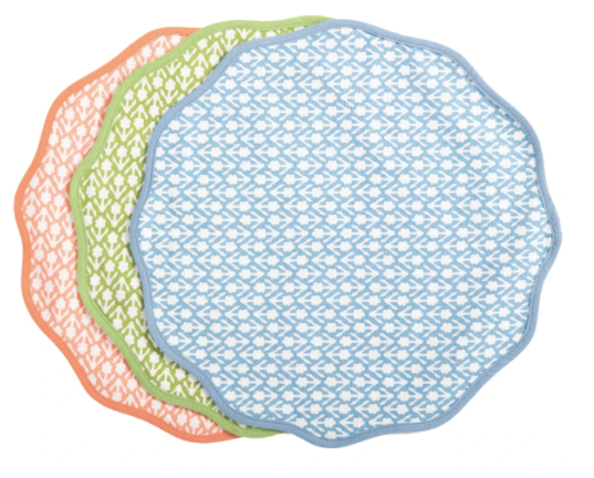 Round Floral Placemats by Amanda Lindroth (Set of 4)