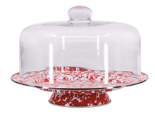 Load image into Gallery viewer, Spatterware Enamel Cake Stand and Dome