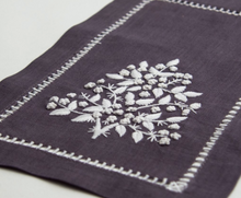 Load image into Gallery viewer, Jardin Estate Hand-Embroidered French Knot Italian Linen Placemat