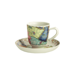Tobacco Leaf Demitasse Cup and Saucer