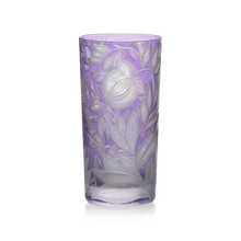 Load image into Gallery viewer, Verdure Etched Floral Highball Glass