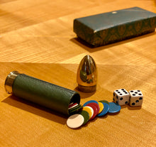Load image into Gallery viewer, Curated Vintage Gucci Pocket Size Game Set Shaped like a Bullet
