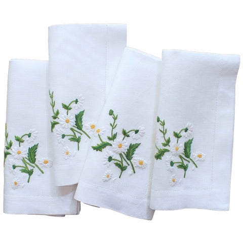 Daisy Dinner Napkins Set of 4 By Lettermade