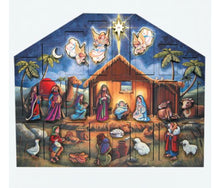 Load image into Gallery viewer, Nativity Wooden Advent Calendar