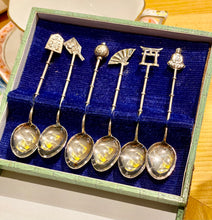 Load image into Gallery viewer, Curated Vintage Silver Charm Spoons with Asian Motifs