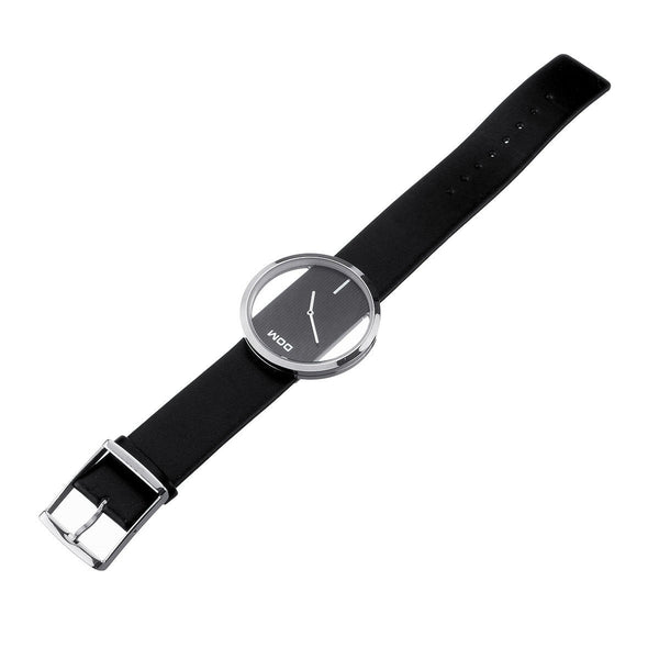 DOM Creative Ring Case Women Luxury Leather Strap Waterproof Quartz Watch