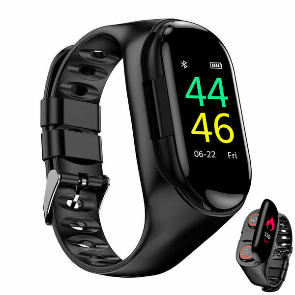 KALOAD 2 in 1 BT Headphone Smart Watch Waterproof Step Counter Sports Fitness Bracelet