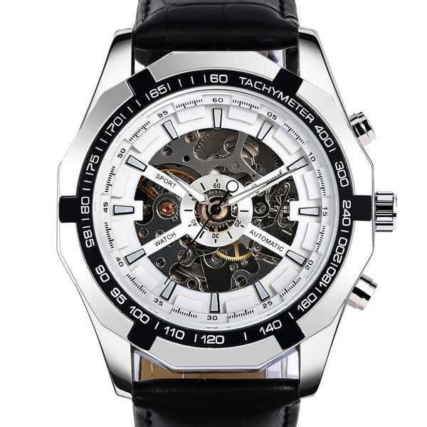 G043 Men Business Style Hollow Case 30m Waterproof Fashion Mechanical Watch
