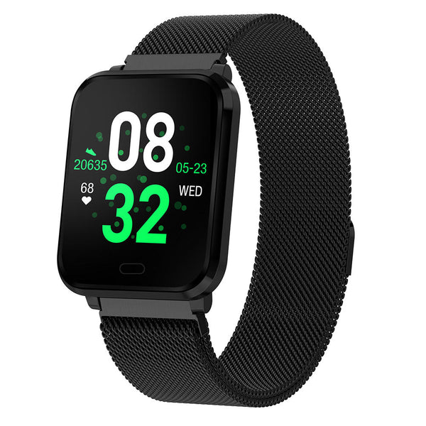 Bakeey K10 Plus 8 Sports Mode IP68 Waterproof Heart Rate Blood Pressure O2 Test Weather Push Smart Watch