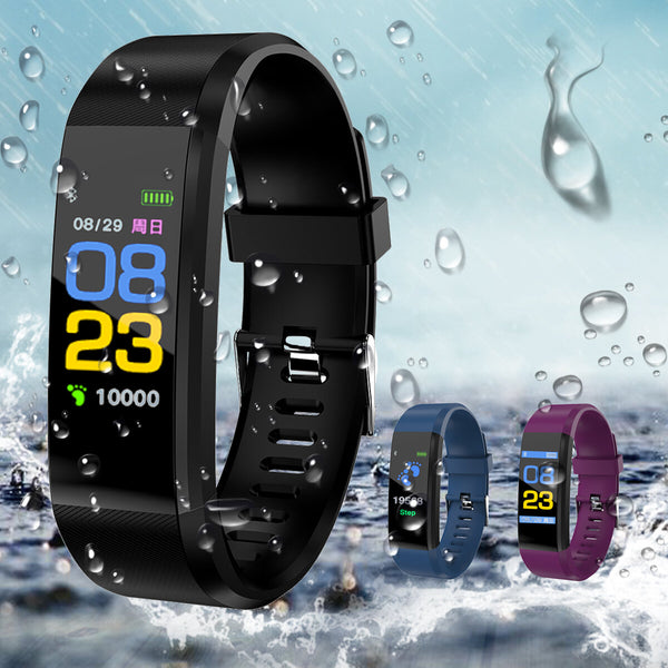 115Plus 0.96in Touch Screen Waterproof Smart Watch USB Charging Fitness Tracker Sports Bracelet Mi Band