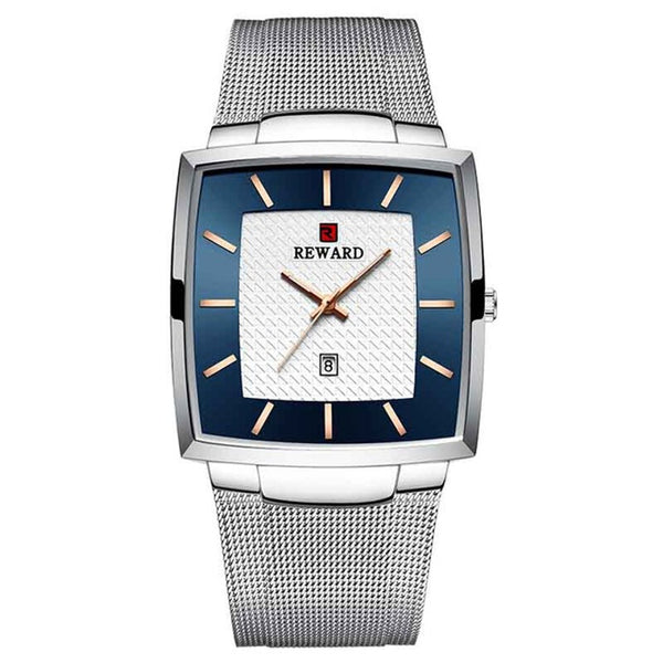 Reward RD62009M Fashion Business Men Watch 3ATM Waterproof Stainless Steel Strap Quartz Watch