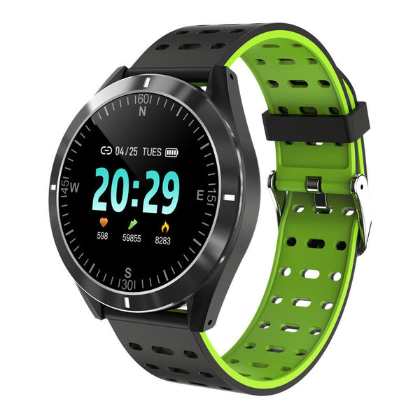 Bakeey P6 Heart Rate Blood Pressure O2 Monitor Weather Push Real-time Message Remind Smart Watch