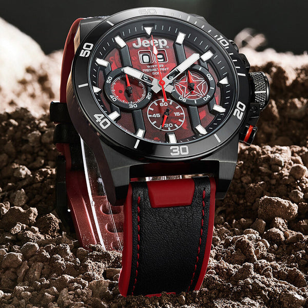 JEEP Watch Domineering Design Metal Case Fashion Calendar Luminous Display Men Quartz Watch