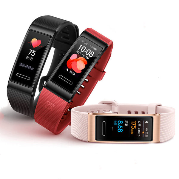 [GPS Positioning]Original Huawei Band 4 Pro AMOLED Color Screen SpO2 Blood Oxygen Heart Rate Monitor Fitness Tracker Multiple Dial Smart Watch