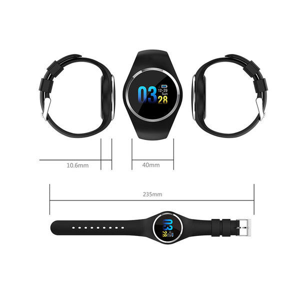 Bakeey Q1 1.0 inch Heart Rate Blood Oxygen Blood Pressure Health Tracker IP67 Waterproof Long Standby Smart Watch