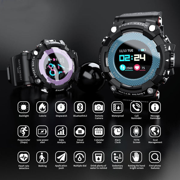 LOKMAT MX16 1.0'' Color Screen 5ATM Waterproof Smart Watch Pedometer Fitness Exercise Sport Bracelet