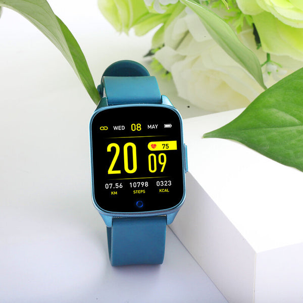 KINGWEAR KW17 Heart Rate Blood Pressure Oxygen Monitor Weather Display Music Control Smart Watch