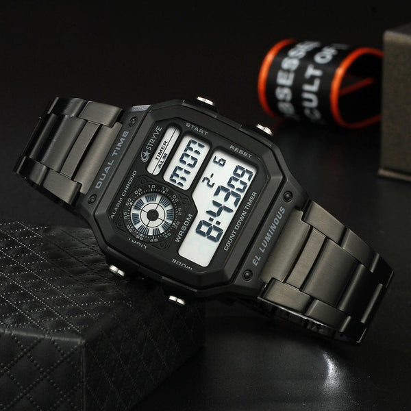 STRYVE S8007 Luminous Display Alarm Date Week Display Countdown Men Sport Digital Watch