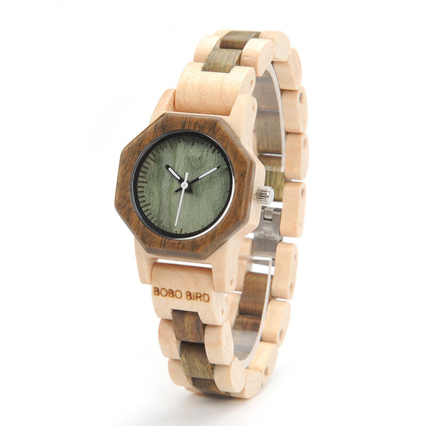 BOBO BIRD M25 Lightweight Fashionable Wooden Wrist Watch Small Dial Quartz Watch