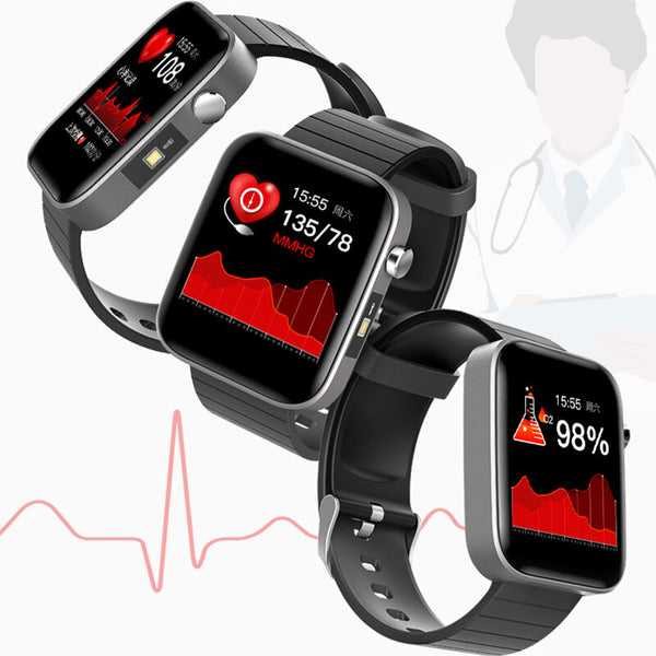 [SPO2 Monitor]Bakeey V68 1.54' Full Touch Screen Blood Pressure Heart Rate O2 Monitor Flashlight Control bluetooth 5.0 Smart Watch