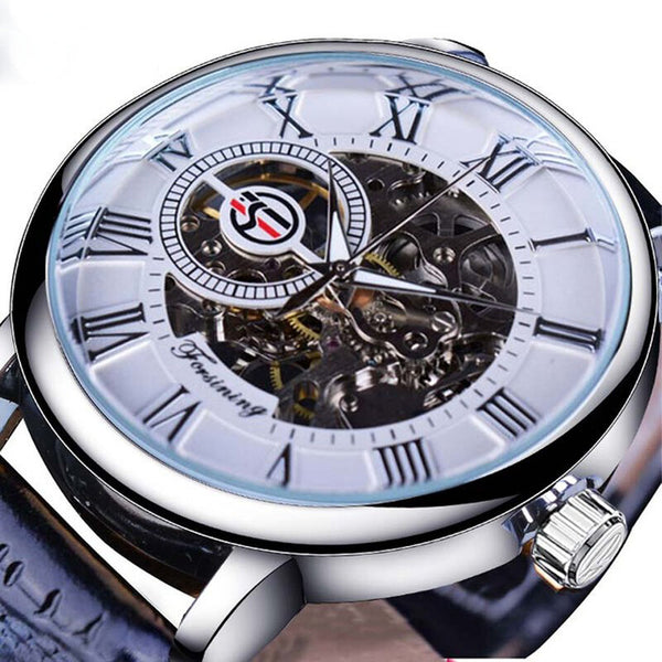Forsining GMT838 3D Hollow Engraving Design Luminous Display Fashion Men Automatic Mechanical Watch