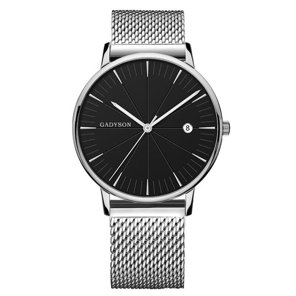 GADYSON A9105 Calendar Casual Style Men Wristwatch Full Steel Luminous Display Quartz Watch