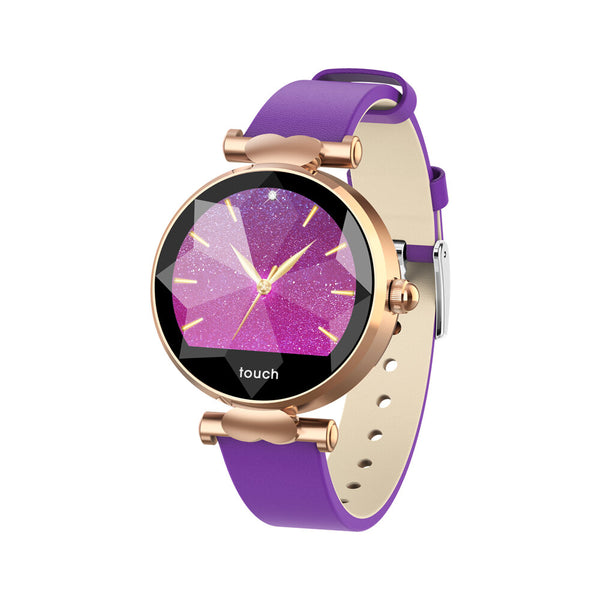 Bakeey B80 Female Menstrual Period Record Blood Pressure Leather Strap Fashion Smart Watch Whatsapp Reminder 8 Sports Mode
