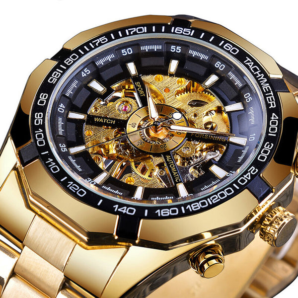 Forsining S101 Fashion Men Watch 3ATM Waterproof Luminous Display Mechanical Watch