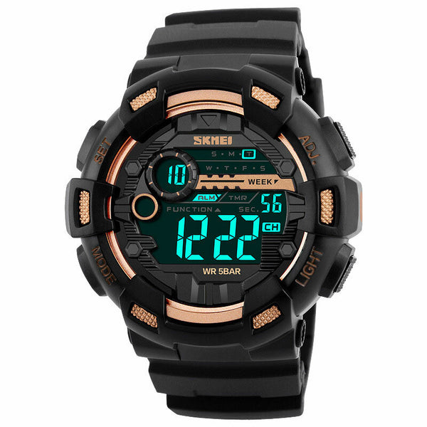 SKMEI 1243 Fashion Luminous Display Chrono Alarm Countdown Men Watch Dual Display Digital Watch