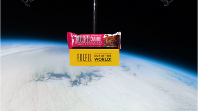Our new Chocolate Caramel flavour is out of this world...so we sent it into space!
