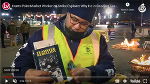 VIDEO: TEAMSTER REBELLION BOOK BEING READ ON NYC PICKET LINE