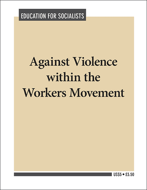 Front cover of Against Violence within the Workers Movement