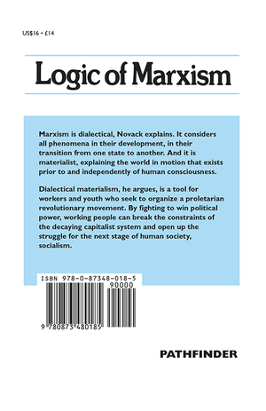 Back cover of An Introduction to the Logic of Marxism