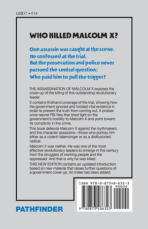Back cover of The Assassination of Malcolm X