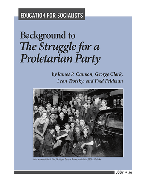 Front cover of Background to 'The Struggle for a Proletarian Party'