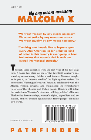 Back cover of By Any Means Necessary
