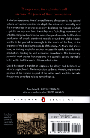 Back cover of Capital, Volume 2