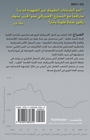 Back cover of Capitalism's Long Hot Winter Has Begun [Arabic edition]