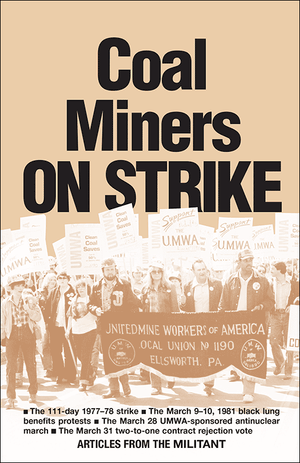 Front cover of Coal Miners on Strike