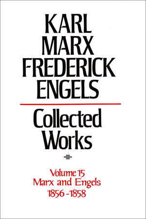 Front cover of Collected Works of Marx and Engels, Volume 15