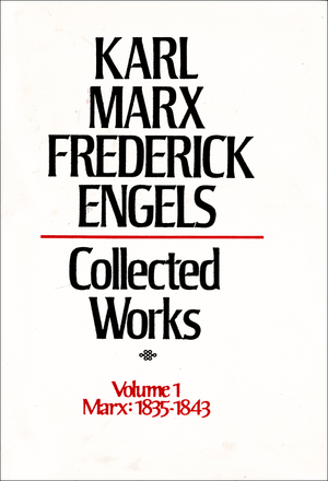 Front cover of Collected Works of Marx and Engels, Volume 1