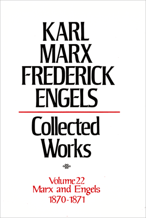 Front cover of Collected Works of Marx and Engels, Volume 22