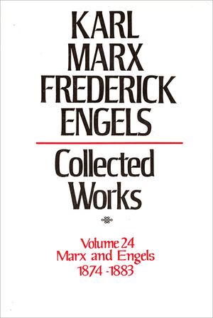 Front cover of Collected Works of Marx and Engels, Volume 24