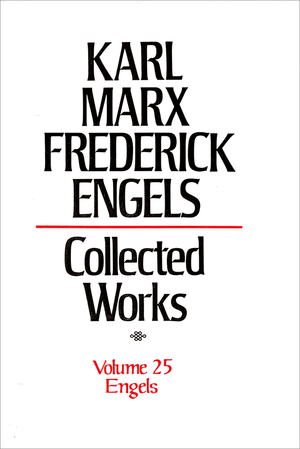 Front cover of Collected Works of Marx and Engels, Volume 25