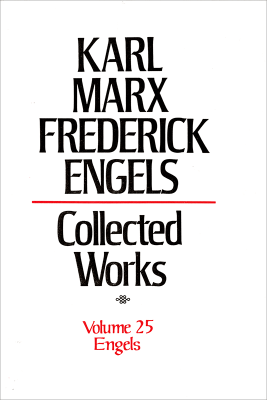 Collected Works of Marx and Engels, Volume 25
