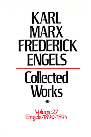 Front cover of Collected Works of Marx and Engels, Volume 27