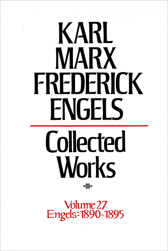 Collected Works of Marx and Engels, Volume 27