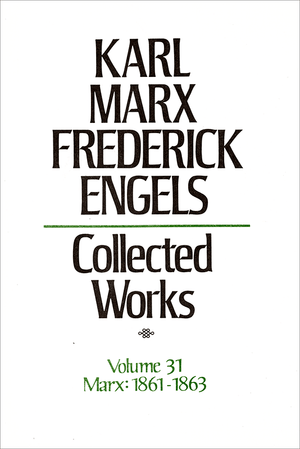 Front cover of Collected Works of Marx and Engels, Volume 31