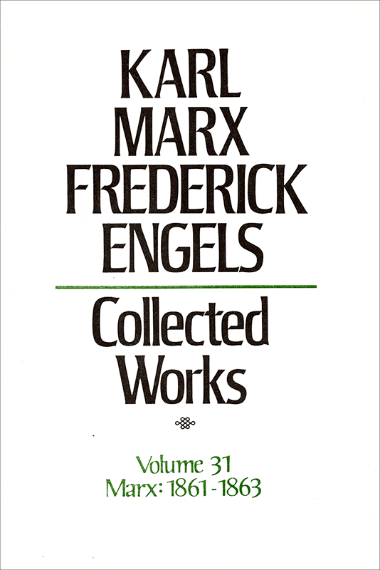 Collected Works of Marx and Engels, Volume 31