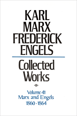 Front cover of Collected Works of Marx and Engels, Volume 41